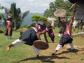 traditional war dance in flores komodo